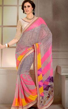 Picture of Glorious Grey Designer Ethnic Saree