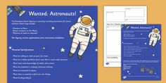 Tim Peake Apply to Be an Astronaut - The European Space Agency are recruiting for astronauts - here is your application pack. Good luck!
