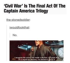 Sorry for the language, but why does the Cap series have to be a trilogy?? Who said it was?