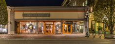 VictoriaWilson Clothiers - Wandering the streets of Victoria BC by night a shot of a nicely illuminated shopfront.