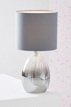 Bedroom Lamps Isla Ombre Table Lamp In 2019 Grey Bedside Touch Table Lamps, Grey Table Lamps, Table Lamps For Bedroom, Light Table, Lamp Light, Gold Table, Lamp Table, Bedroom Decor, Bedside Lamps Grey