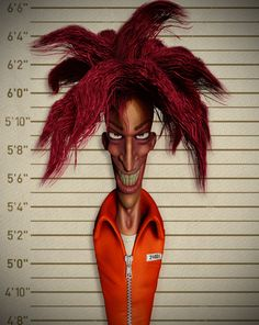 Just tried to see what Sideshow Bob might look like if he were in the real world. He ended up with kind of a Joker vibe. Best Cartoons Ever, Cool Cartoons, Sideshow, Mug Shots, The Simpsons, Favorite Tv Shows, Prison, Joker, Bob