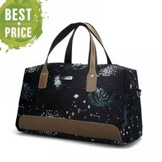 Travel Tote, Travel Luggage, Luggage Bags, Weekender, Travel Bags For Women, Cheap Travel, Star Print, Large Bags, Oxford