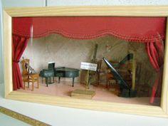 """vitrine orchestre miniature au 1/12 dispo sur la boutique """" unedavril """""""