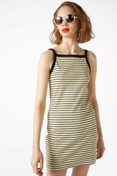 Monki Image 2 of Contrast strap slip dress in White