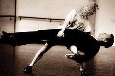 With Louise Lecavalier of La La La Human Steps, 1990 Sound+Vision Tour.