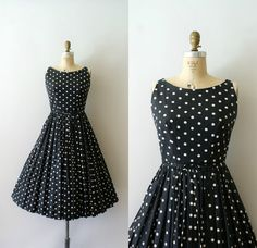 Vintage 1960s Sundress  60s Lanz Polka Dot by Sweetbeefinds