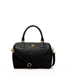 Tory Burch Robinson Middy Satchel - A nice classic-looking black satchel