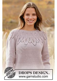 Sweater Knitting Patterns, Knit Patterns, Free Knitting, Baby Knitting, Drops Design, Crochet Diagram, Work Tops, Baby Sweaters, Chain Stitch