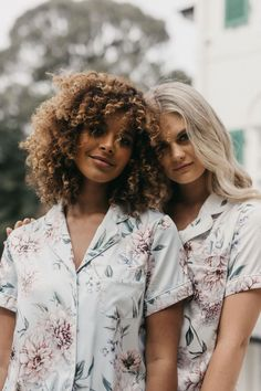 Pajamas Are the After-Party Look We're All In On (With images) Bridesmaid Pyjamas, Bridesmaid Bags, Personalized Pajamas, Paris In Spring, S Monogram, Bridal Robes, Party Looks, Textile Prints, Looking Gorgeous