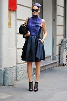 Milan street style, better than NYC? Photo by Melanie Galea.