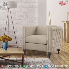 Jual Sofa Minimalis Jepara Terbaru Design Minimalist Inspiring BT-0732 Beige Accent Chairs, Green Accent Chair, Chair Types, Chairs Online, Tufting Buttons, Nailhead Trim, Living Room Chairs, Dining Chair, Couches