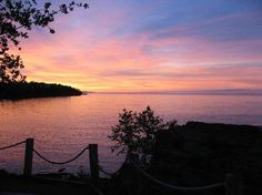 Bluefin Bay on Lake Superior: Sunset from Unit 8