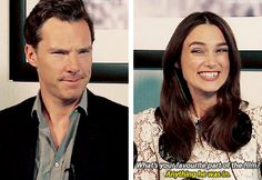 Ben and Keira you know she's a Cumbercookie