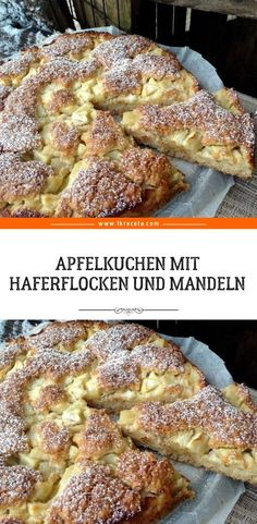 Oatmeal and Almond Apple Cake , Easy Egg Recipes, Quick Dessert Recipes, Egg Recipes For Breakfast, Apple Breakfast, Special Recipes, Desserts Végétaliens, Easy Strawberry Desserts, Food For A Crowd, Easy Meals