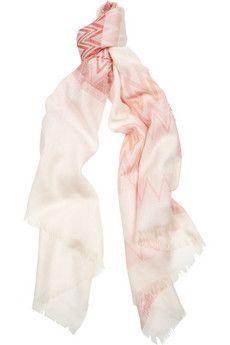 Missoni Zigzag cotton scarf