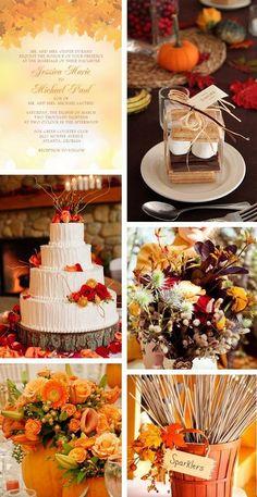 Fall Wedding Idea and theme / http://www.himisspuff.com/fall-wedding-ideas-themes/