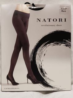 1a722a7372c29 Extra Off Coupon So Cheap Natori Revolutionary Sheer Seamless Tights Black  XL