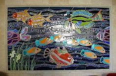 Lagniappe Mosaic - Current Project 3 - Kitchen Fish Mural