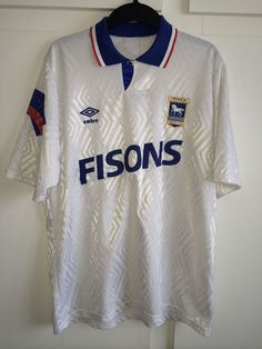 b5a97f7d7 Details about  L  1989 90 IPSWICH Away Umbro Football Shirt