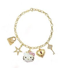 Adorable  Hello Kitty Charm Bracelet: Jewelry: Amazon.com(Not DIY)