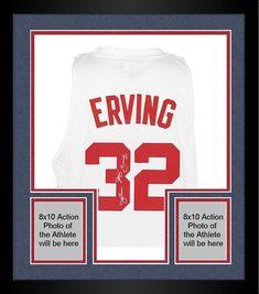 Framed adidas Julius Erving New Jersey Nets Signed Swingman Jersey   sportsmemorabilia  autograph  basketballjersey 4be5265a8
