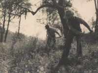 [Two men working the land]Nell Dorr (1893-1988)