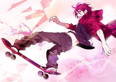 Free! ~~ Skateboarding Rin Matsuoka