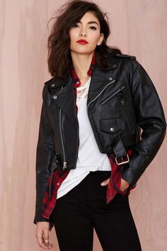 Vintage Tough Cookie Leather Moto Jacket