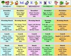 Good to have meals planned out