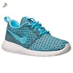 nike womens rosherun flyknit running trainers 704927 sneakers shoes (uk 3.5 us 6 eu 36.5, dark grey clear water blue legion white 003) - Nike sneakers for women (*Amazon Partner-Link)