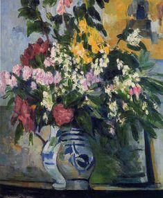 Paul Cezanne ~ Two Vases of Flowers, c.1877