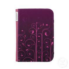 Funky Pink Swirls Kindle Case