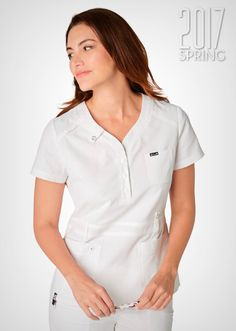 321 Kendall Top: 01 (White) Kendall White, Stylish Scrubs, Koi Scrubs, Scrub Tops, Fashion Brands, Chef Jackets, Polo Ralph Lauren, Topshop, Mens Tops