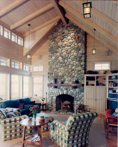 Whidbey Island Cabin - traditional - living room - seattle - Greif Architects / LIVING ARCHITECTURE