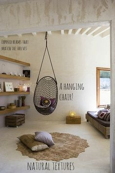 pod chair neutral natural bedroom organic- i died a little inside when i saw this- ENVY