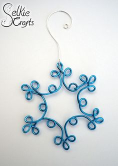 Jewelry & Wedding Accessories ~ Personalized Gifts by SelkieCrafts Snowflake decoration blue, Christmas decor, Tree decoration xmas, holiday decoration. Jewellery (jewelry) handmade in Scotland by Selkie Crafts. Blue Christmas Decor, Decoration Christmas, Snowflake Decorations, Christmas Jewelry, Christmas Ornaments, Tree Decorations, Christmas Crafts, Christmas Tree, Wire Crafts