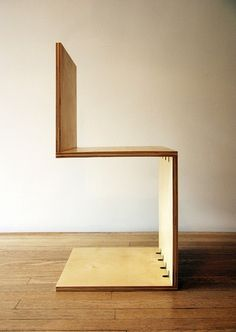 We're smitten with this simple cantilever plywood chair