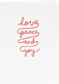 love peace joy