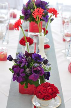 Red and purple are my two favorite colors, so I've always been curious how to combine the two for a wedding!