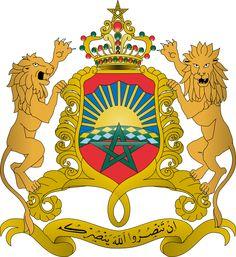 Coat of Arms Morocco / شعار المغرب - (Arabic: إن تنصروا الله ينصركم) (If you glorify God, he will glorify you) (Quran, Verse 7, Sura 47).