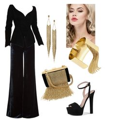 """""""#elegance"""" by alaland on Polyvore featuring moda, Emilio Pucci, Thierry Mugler, Gucci, Balmain, Panacea ve BaubleBar"""