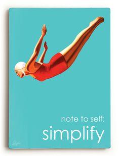 retro dive girl | Inspirational Simplify Dive Girl Vintage Wood Art Sign