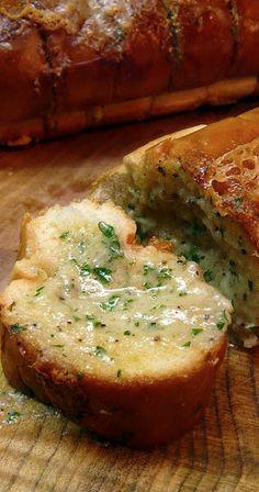 italian garlic bread with gorgonzola....