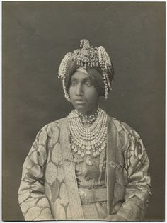 """H.H.the late Maharajah of Patalia,"" a gelatin photo, c.1900"
