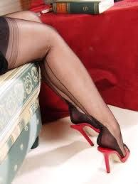 Image result for stilettos with nylons hosiery