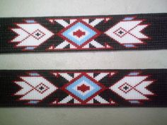 Native American style beaded Hat Band~Custom Geometric Hatband