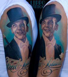 Fred Astaire by Ritratti at Lippo Tattoo in Frosinone, Italy