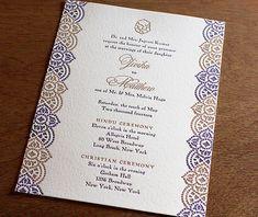 indian mosaic letterpress wedding invitation by invitations by ajalon