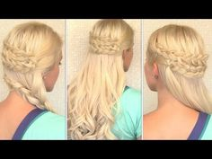Bohemian Half Updo and Side Swept Braid Hairstyle